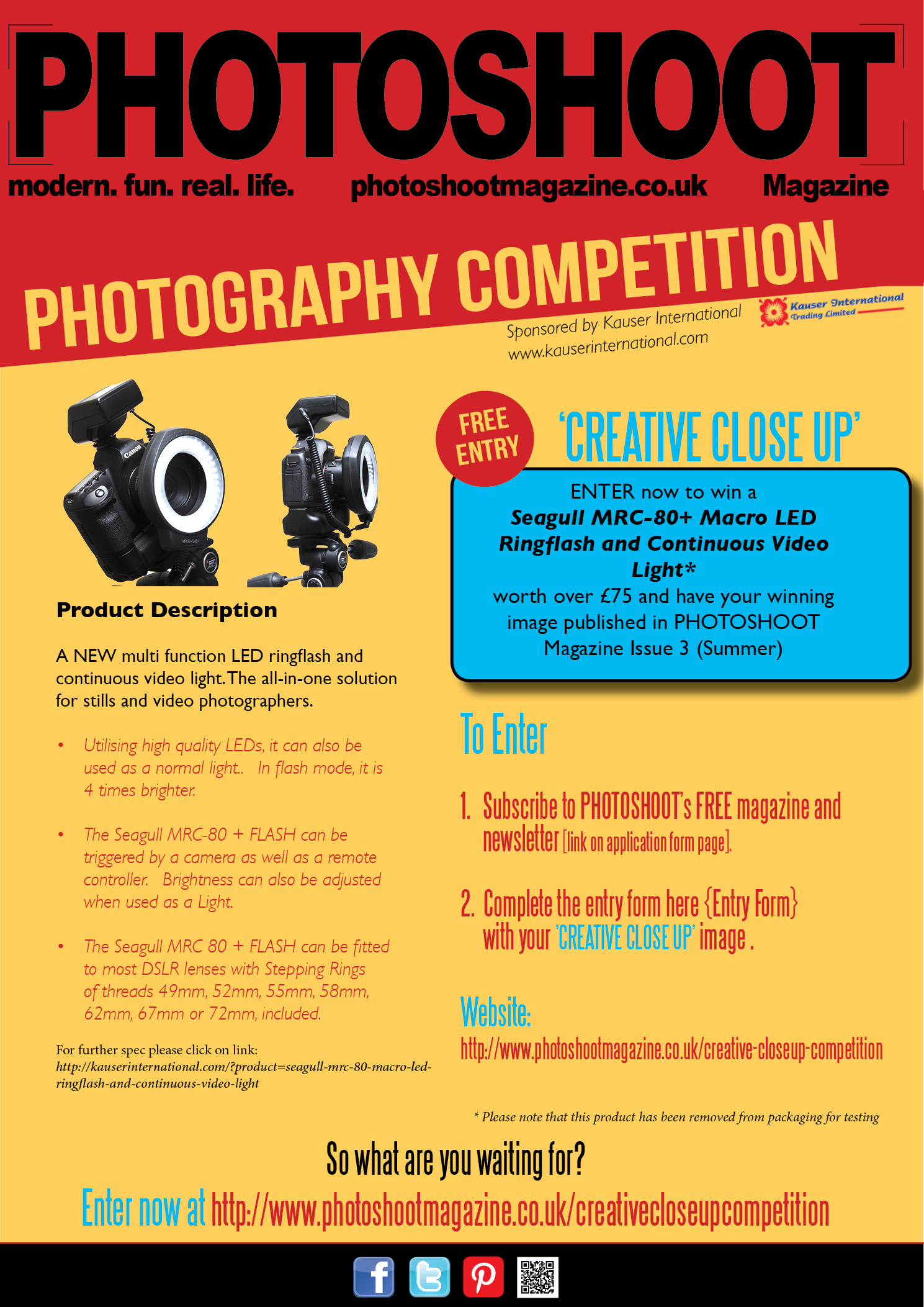 PHOTOGRAPHER COMPETITION