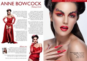 PUBLISH YOUR MAKE UP PORTFOLIO WITH PHOTOSHOOT MAGAZINE WITH ANNE BOWCOCK MAKEUP ARTIST