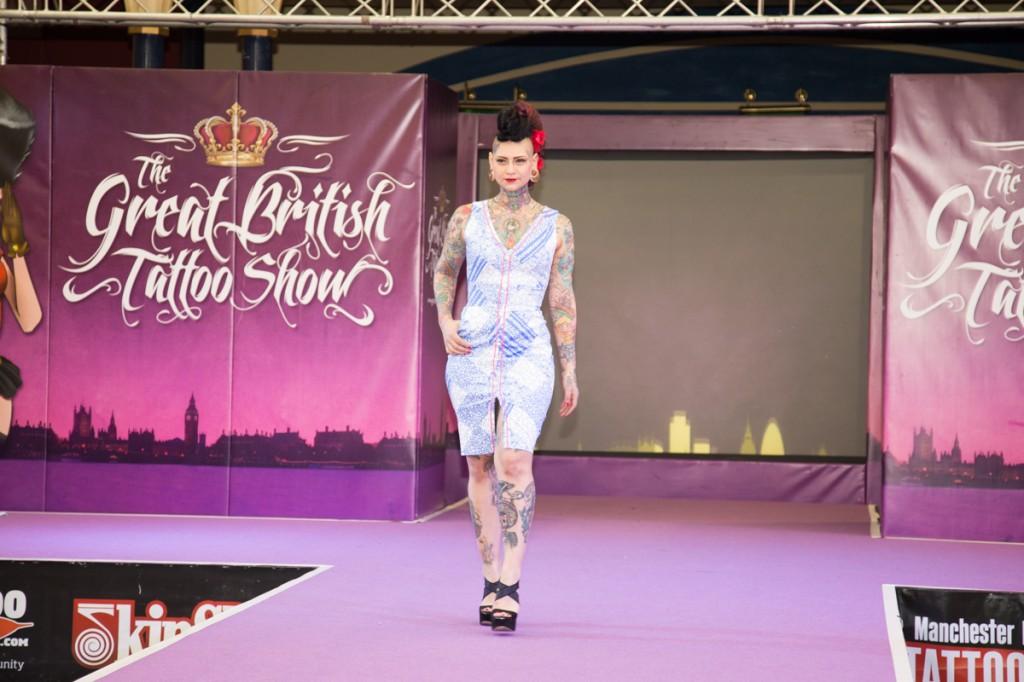 Aima Iindigoii at The Great British Tattoo Show 2015