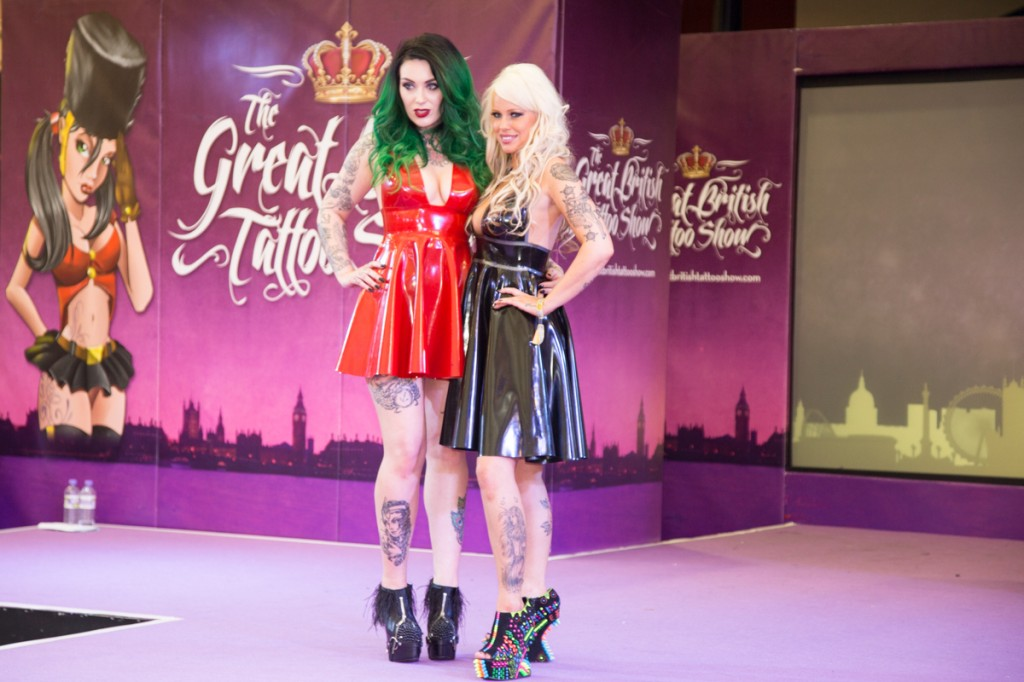 Eden Anastacia and Nicola Kelly at The Great British Tattoo Show 2015