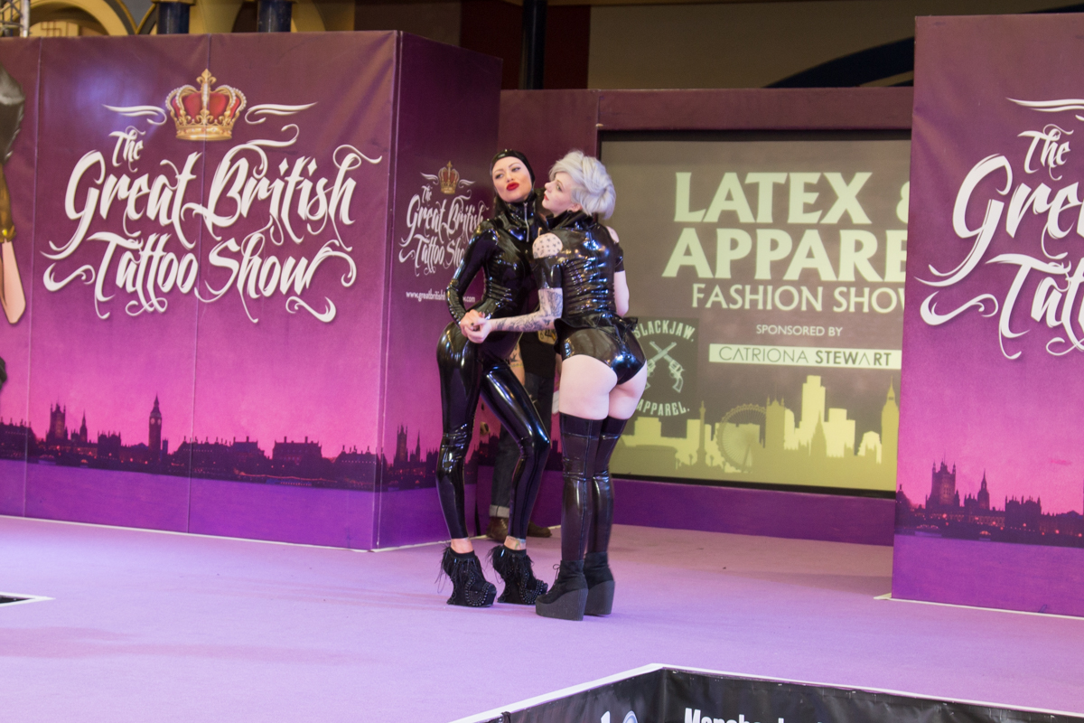 Becky Holt and Hazel Tyler at The Great British Tattoo Show 2015