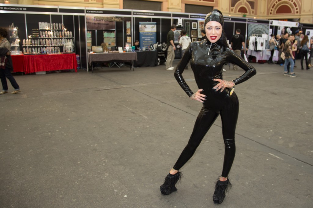 Becky Holt at The Great British Tattoo Show 2015