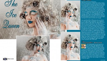 Get Published in a magazine Behind the scenes - The Ice Queen - Photo-shoot