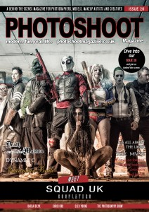 PHOTOSHOOT Magazine Issue 20 Front Cover with Squad UK - Suicide Squad Tribute Cosplayers