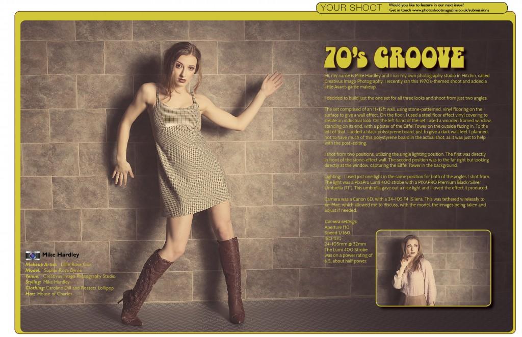 PHOTOSHOOT Magazine - Cover Girl Runner up - Retro 70's Photoshoot