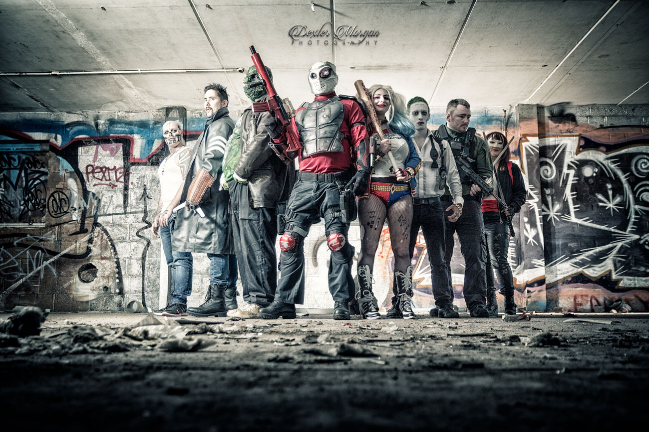FRONT COVER IMAGE_PHOTOSHOOT MAGAZINE SUICIDE SQUAD COS PLAY - SQUAD UK