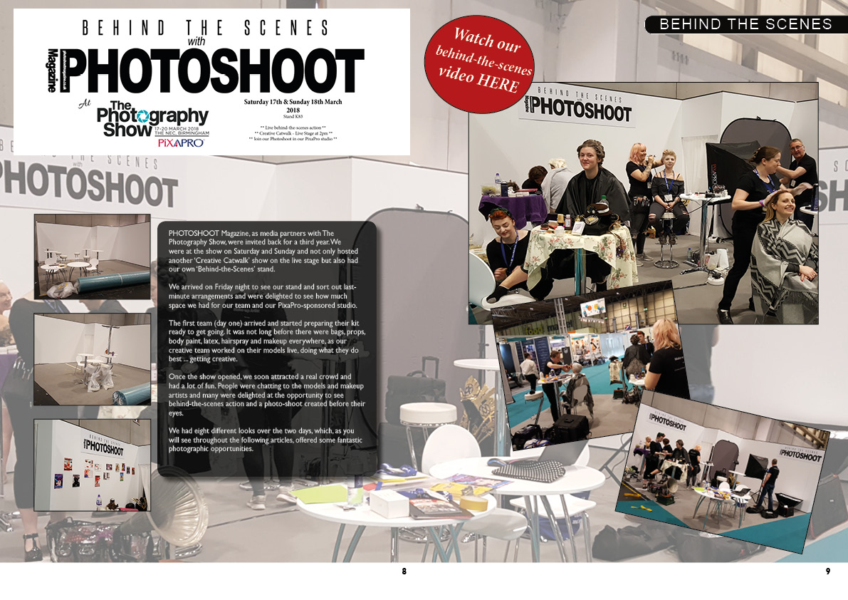 The Photography Show 2019 -Behind the scenes with PHOTOSHOOT Magazine