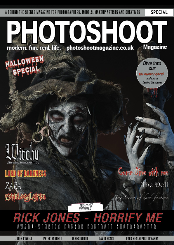 PHOTOSHOOT Magazine Halloween Special 2018 Front Cover - Witchy - Horrify Me