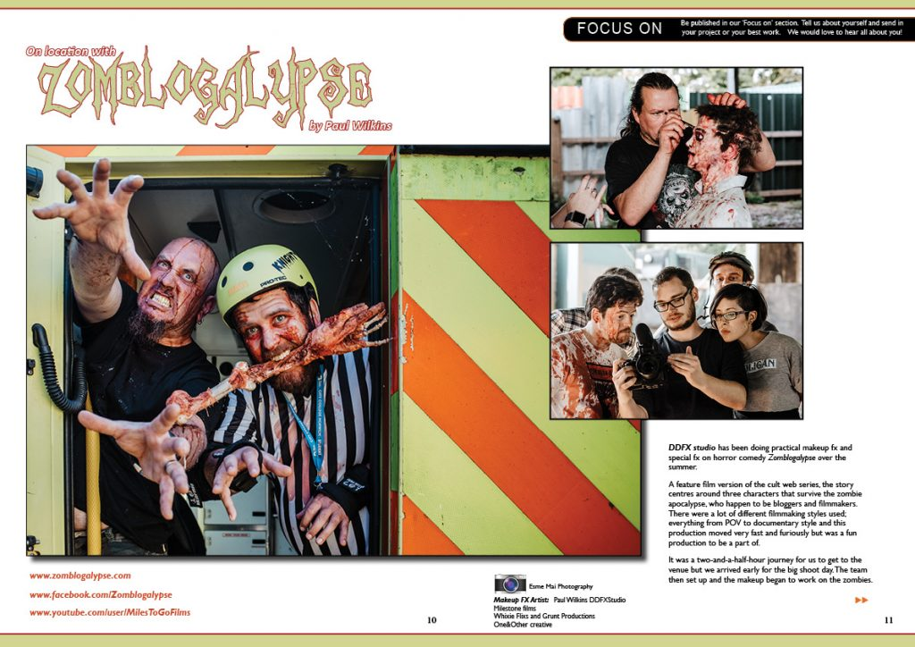 Zomblogalypse Article. DDFX Studio. Photoshoot Halloween Special