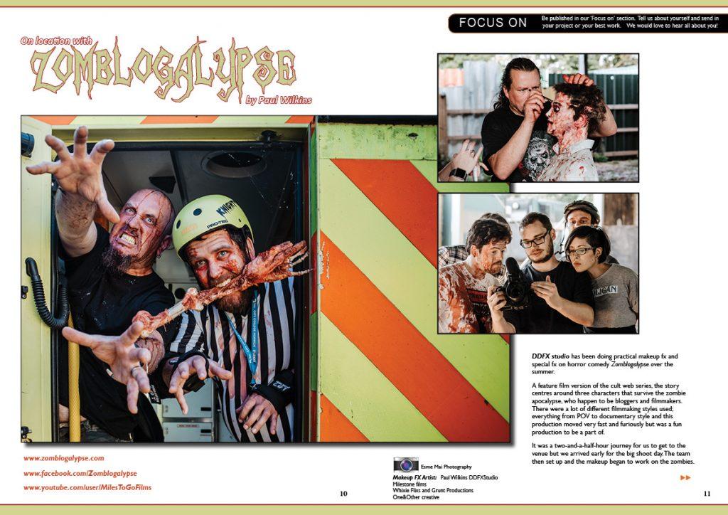 Zomblogalypse Article. DDFX Studio. Photoshoot Halloween Special