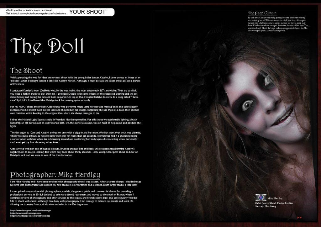 The Doll - Mike Hardley. Ballet Dancer/Model: Katelyn Robbins. Makeup: Cleo Young