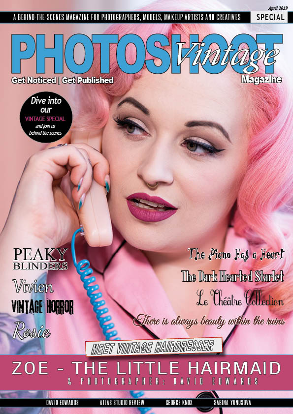 How do I get my image published on a front cover ZOE THE LITTLE HAIRMAID VINTAGE SPECIAL EDITION - APRIL 2019