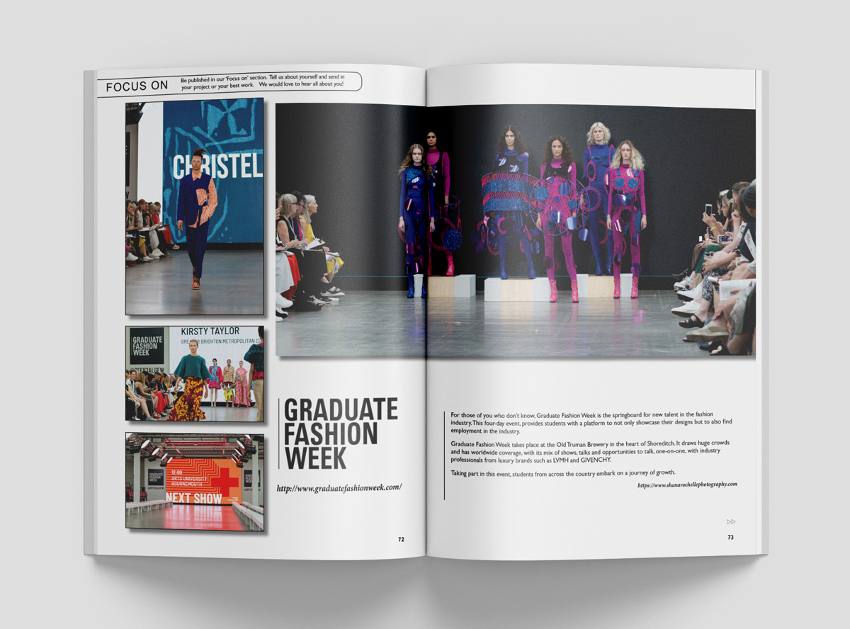 Graduate Fashion Week 2019 - Double Page Spread