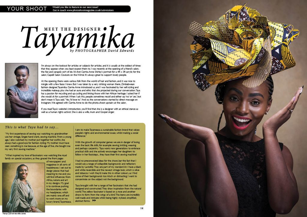 Tayamika Hat Designer Article_David Edwards